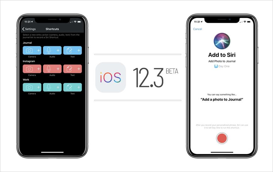 اصدار تحديث IOS 12.3 التجريبي للمطورين